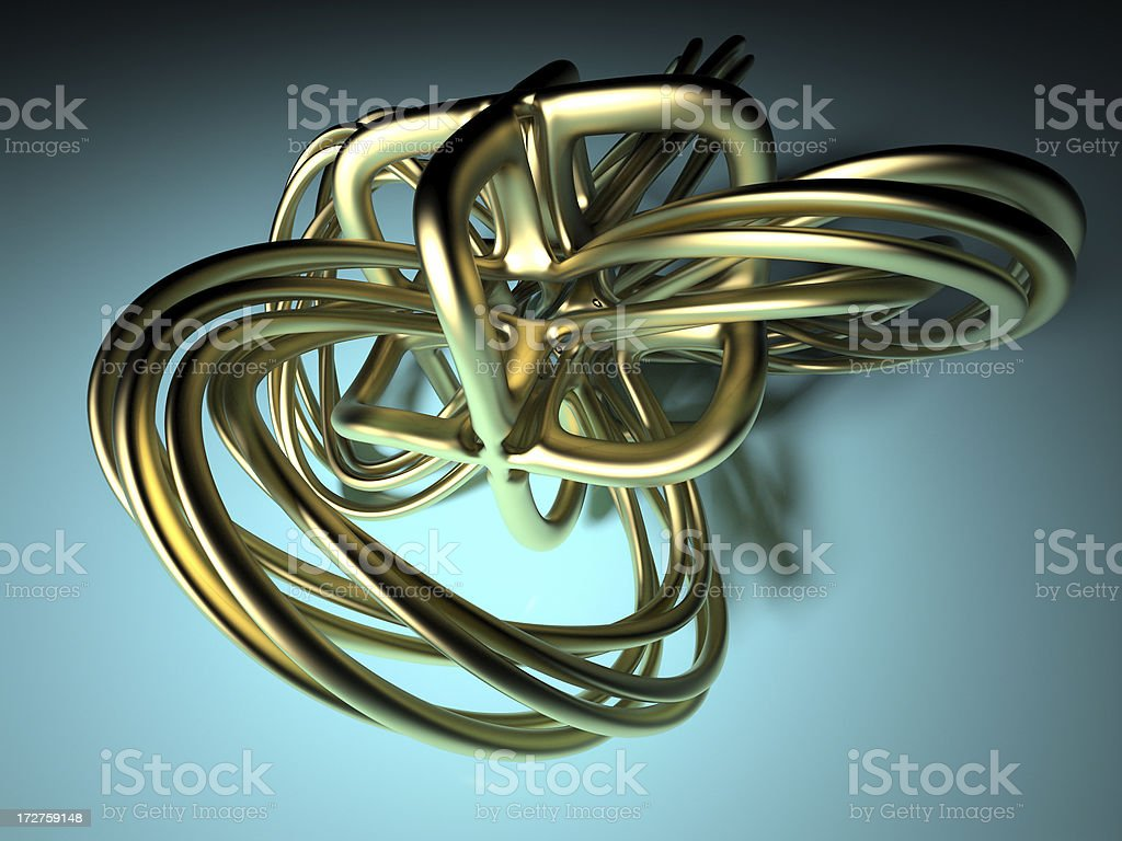 Gold Knot royalty-free stock photo