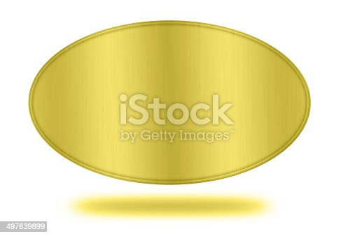 istock gold label isolated 497639899