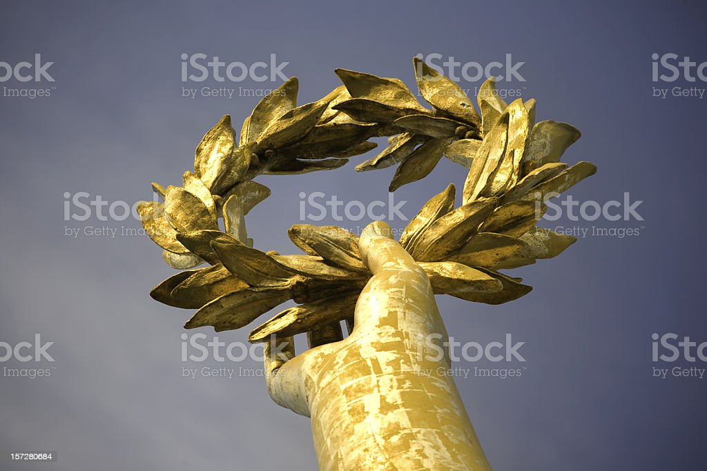 Gold laurel royalty-free stock photo