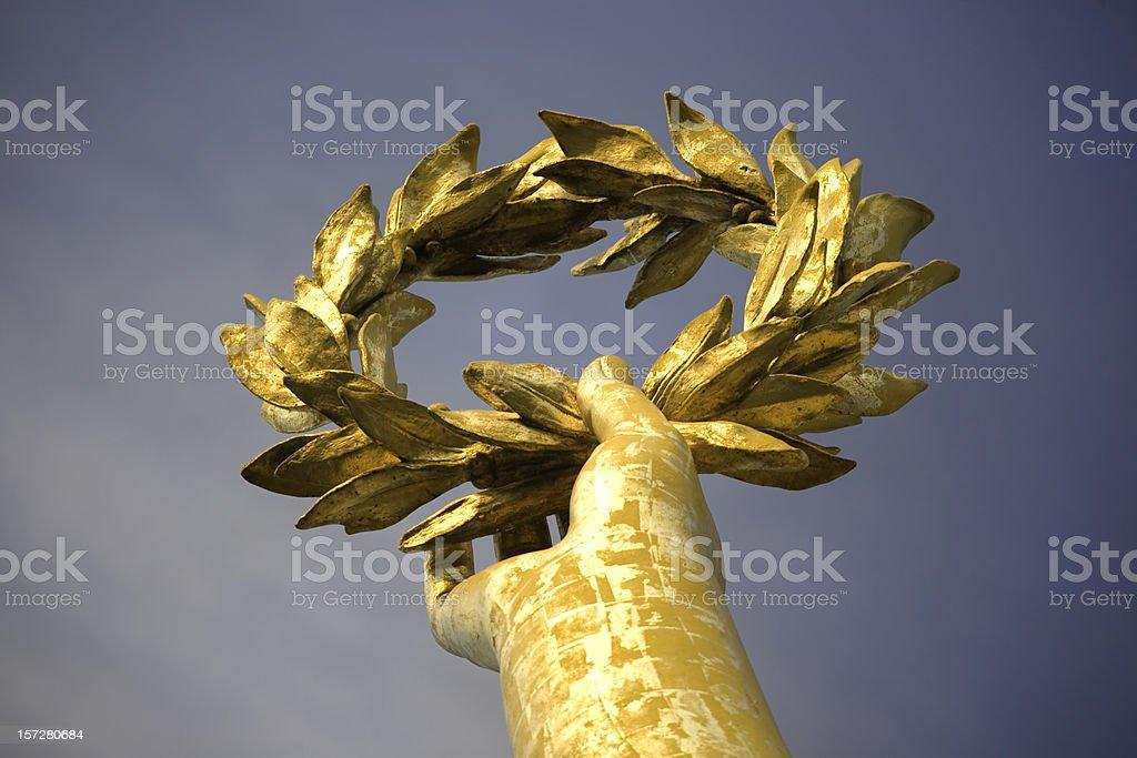 Gold laurel stock photo