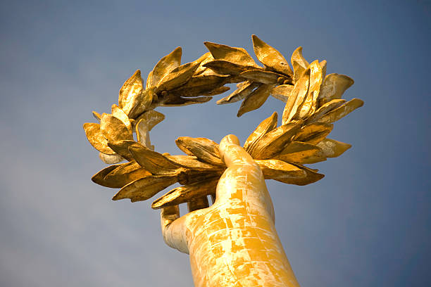 Gold laurel stock photo