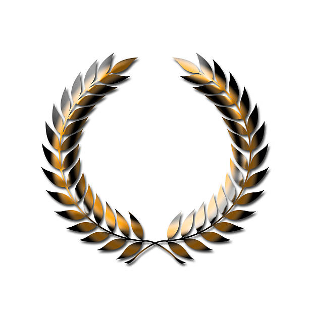 Gold Laurel Wreath stock photo