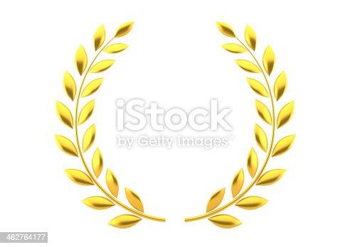 istock Gold laurels 462764177