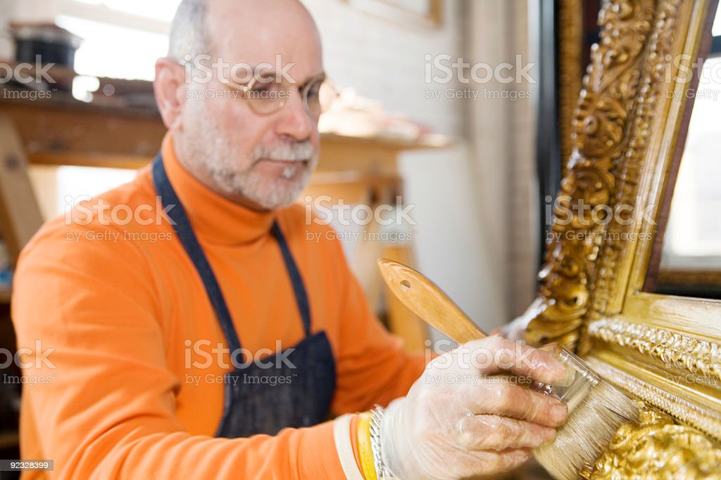 gold leaf and gilding royalty-free stock photo