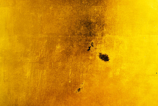 Gold Leaf Background Damaged stock photo