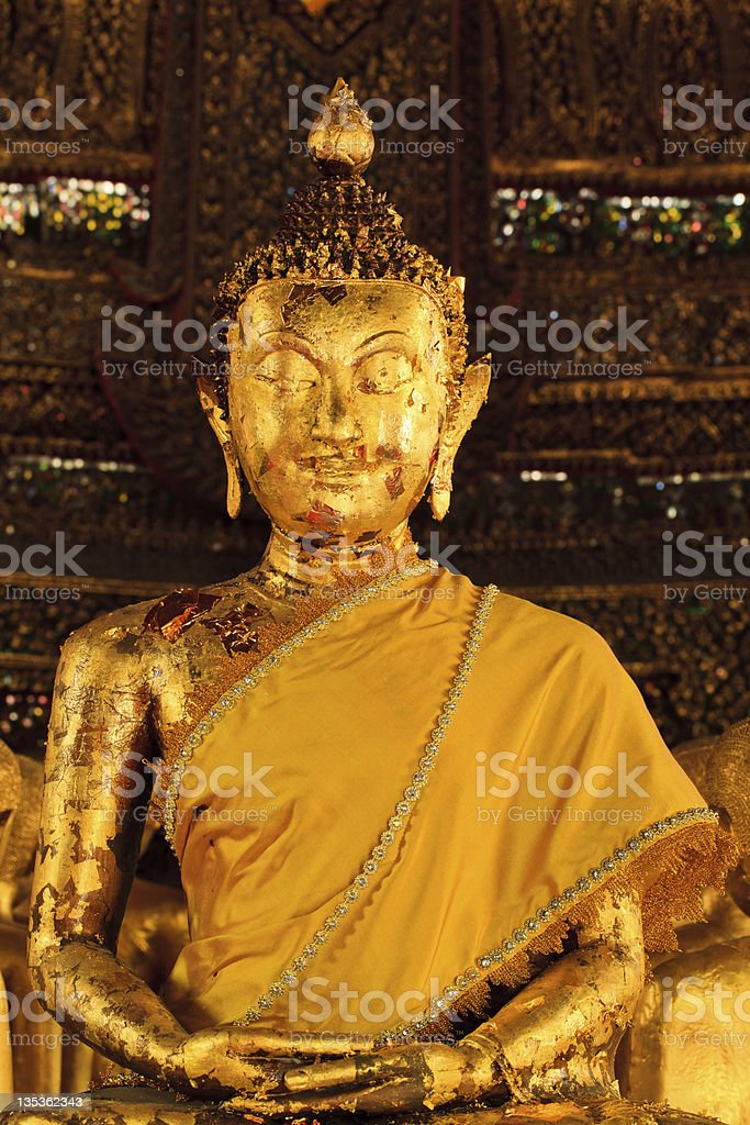 Gold Leaf Buddha royalty-free stock photo