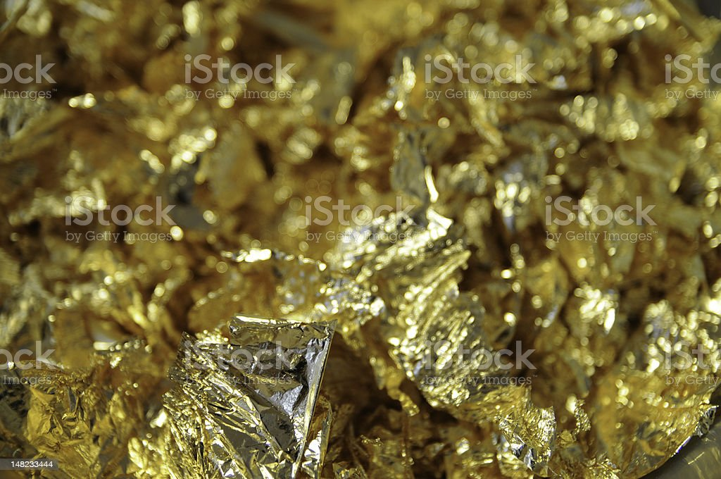 feuilles d'or stock photo