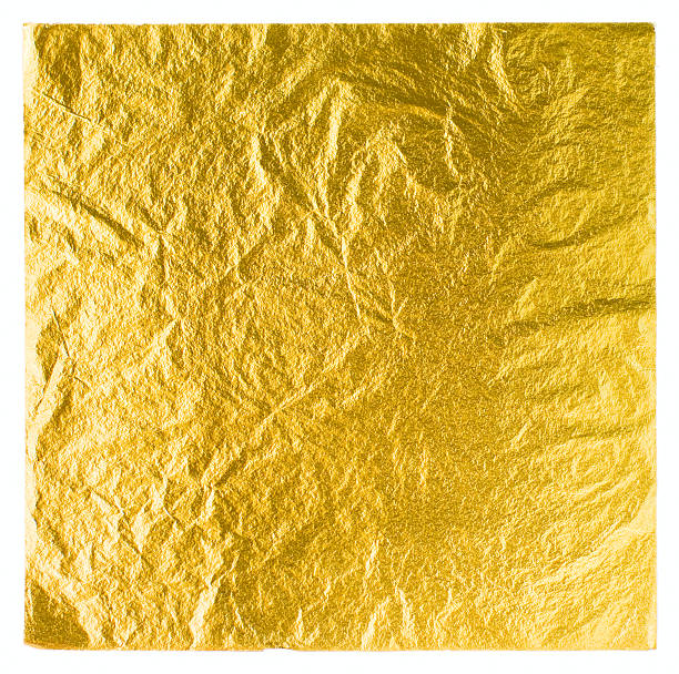 gold leaf - foil stock photos and pictures
