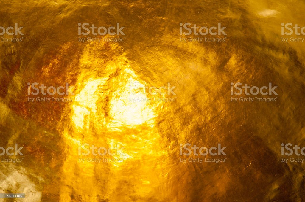 Gold leaf roof Buddhist culture and temple stock photo