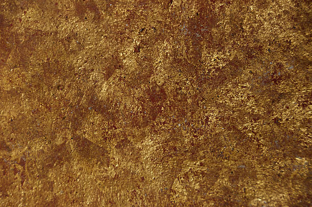 Gold leaf structure stock photo