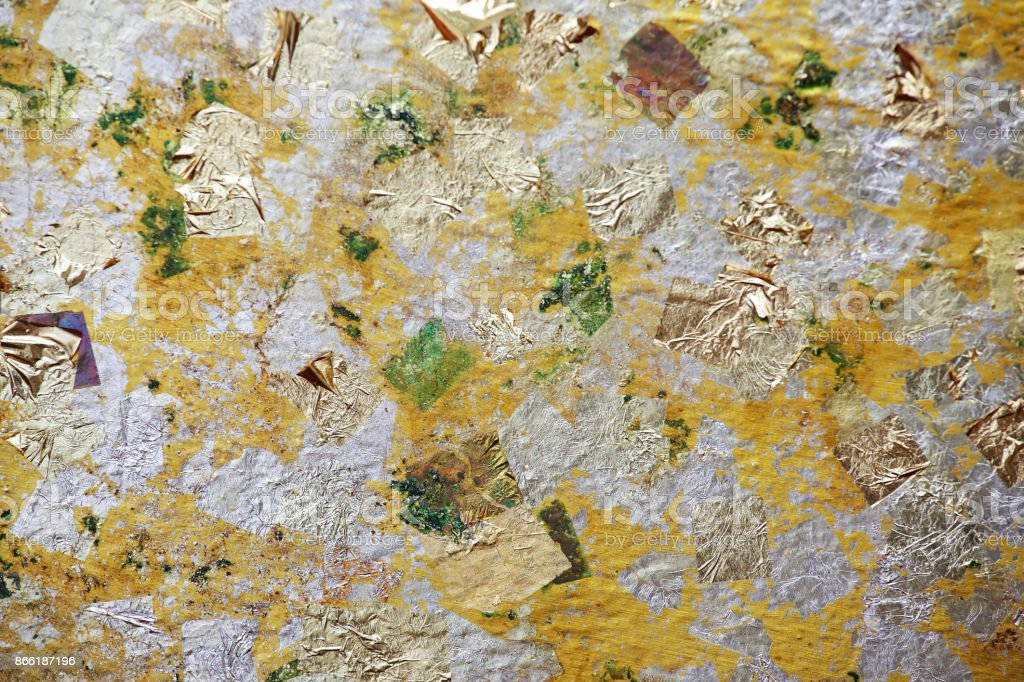 gold leaf texture as background. stock photo