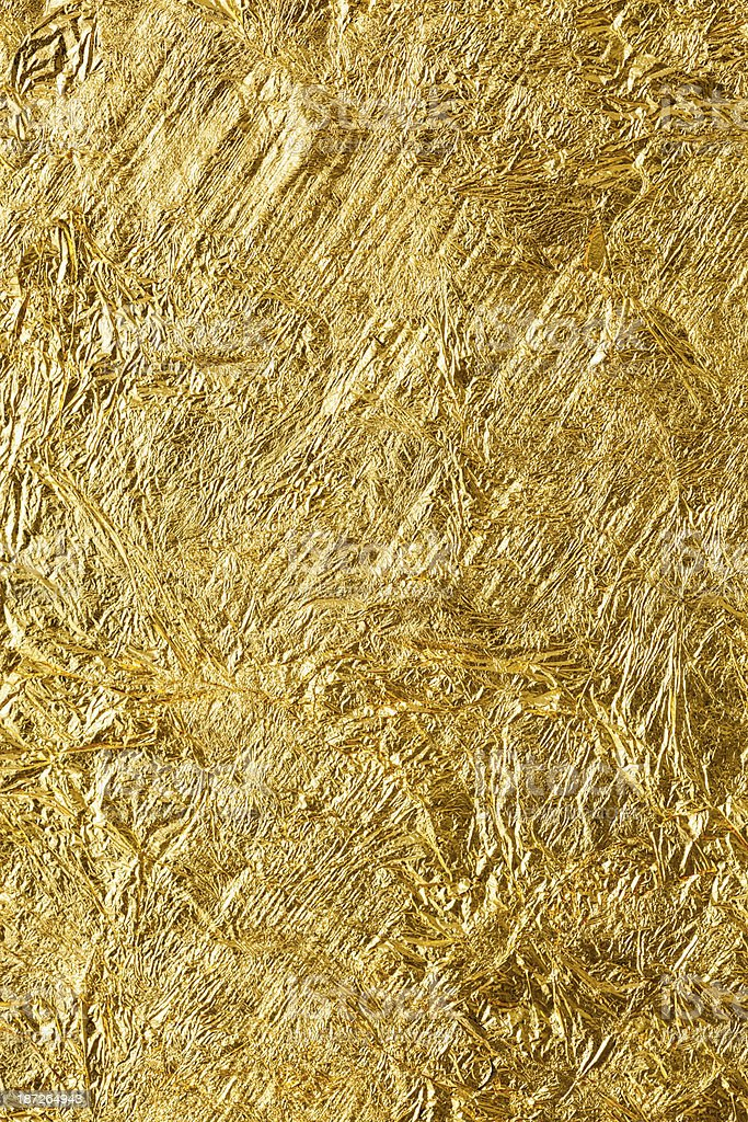 Gold leaf texture background. stock photo