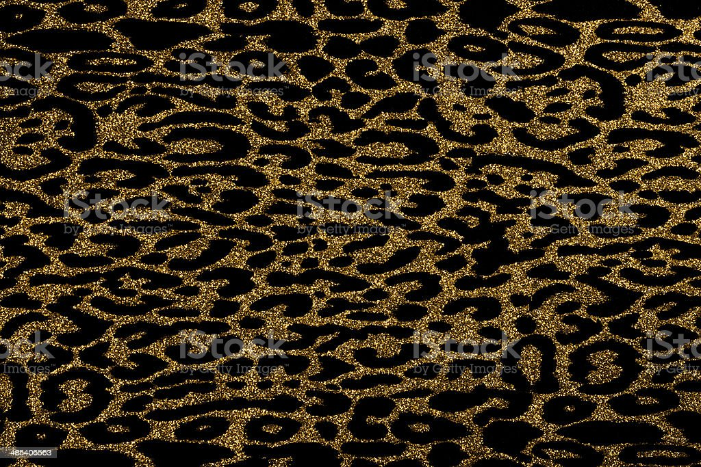Gold Leopard Print Glitter Background Stock Photo More Pictures Of