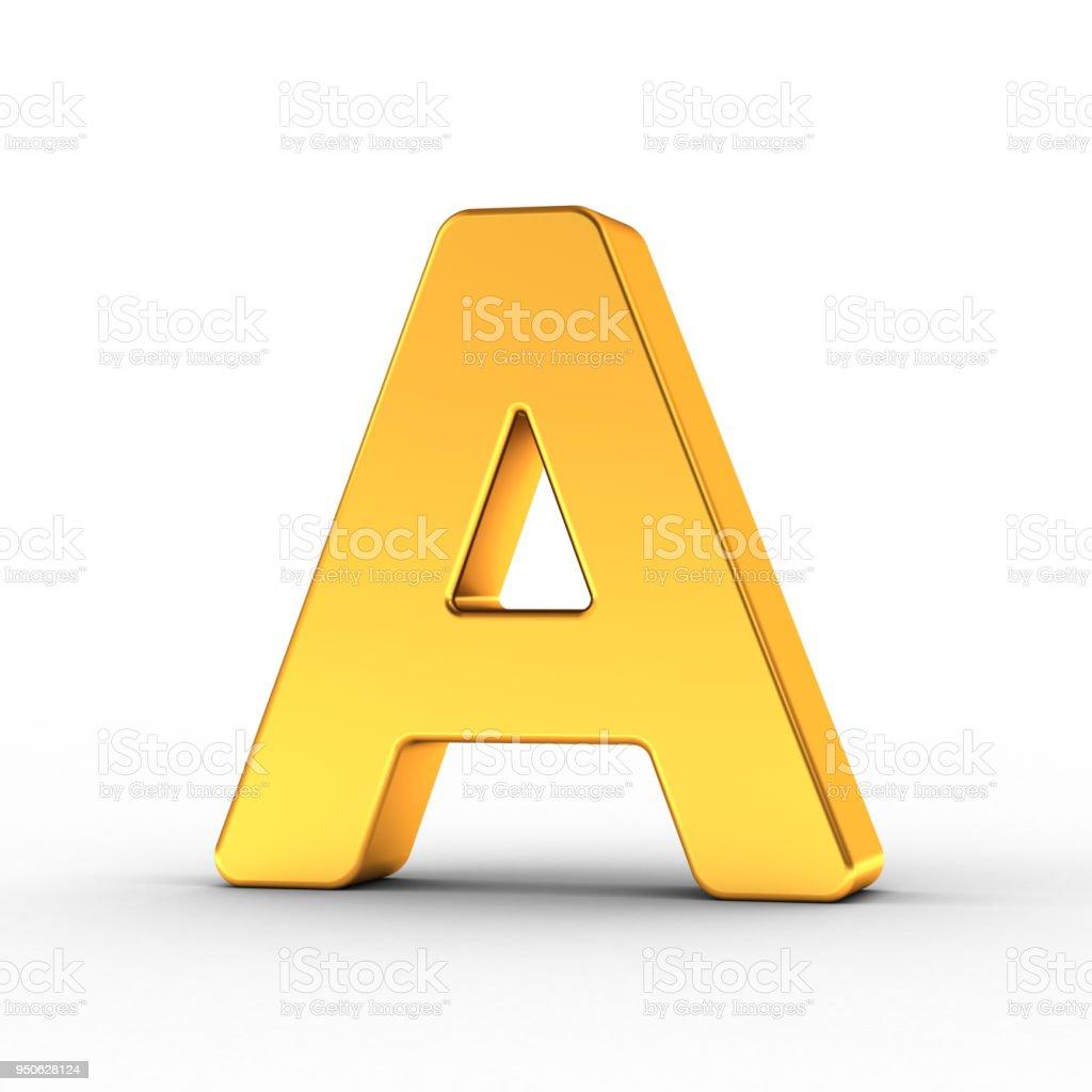Kırpma yoluyla altın harf A stok fotoğrafı