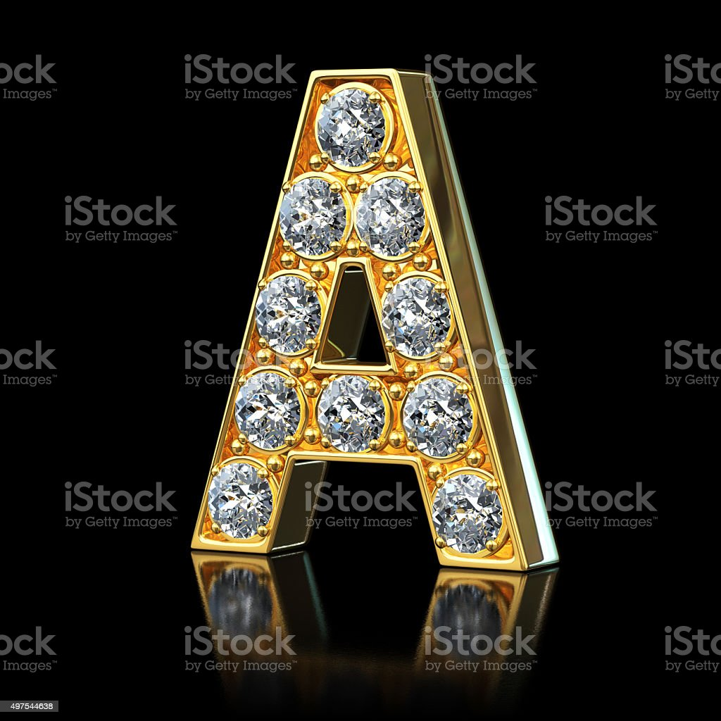 Diagram Gold Letter C Free Stock Photo
