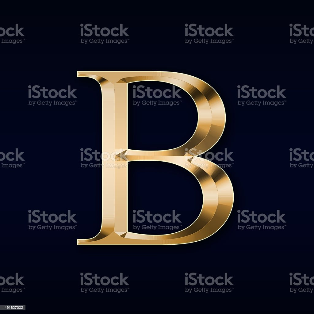 gold letter b on a black background stock photo 491827002 istock