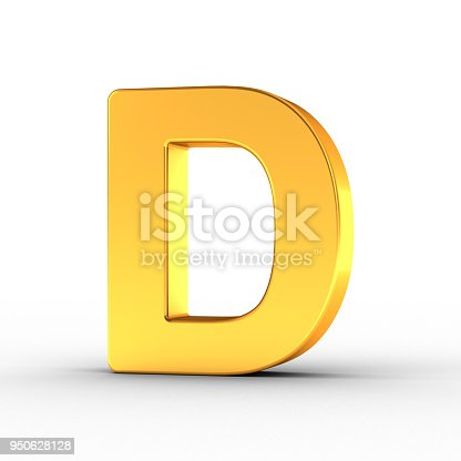 184385936 istock photo Gold Letter D with clipping path 950628128