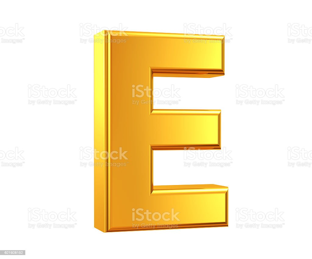Gold Lettre E - Photo