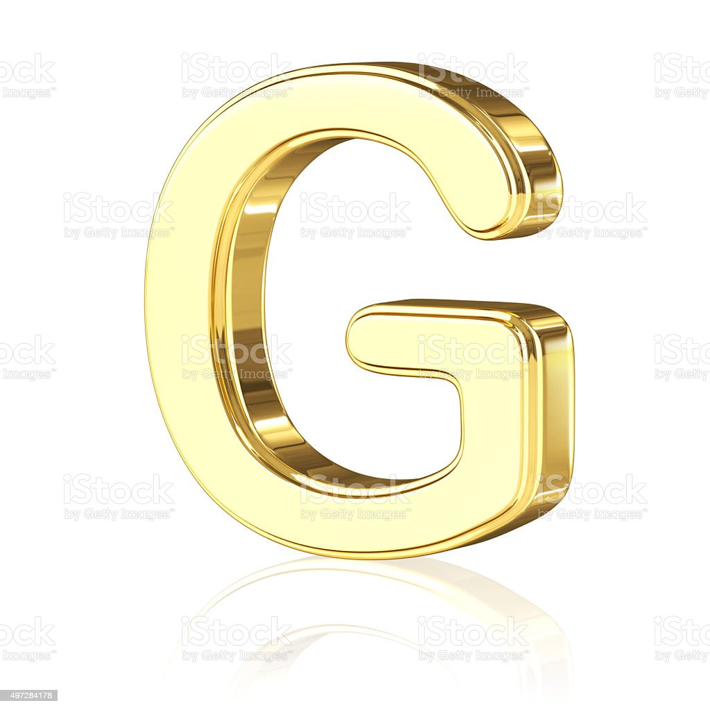 Gold Letter G stock photo