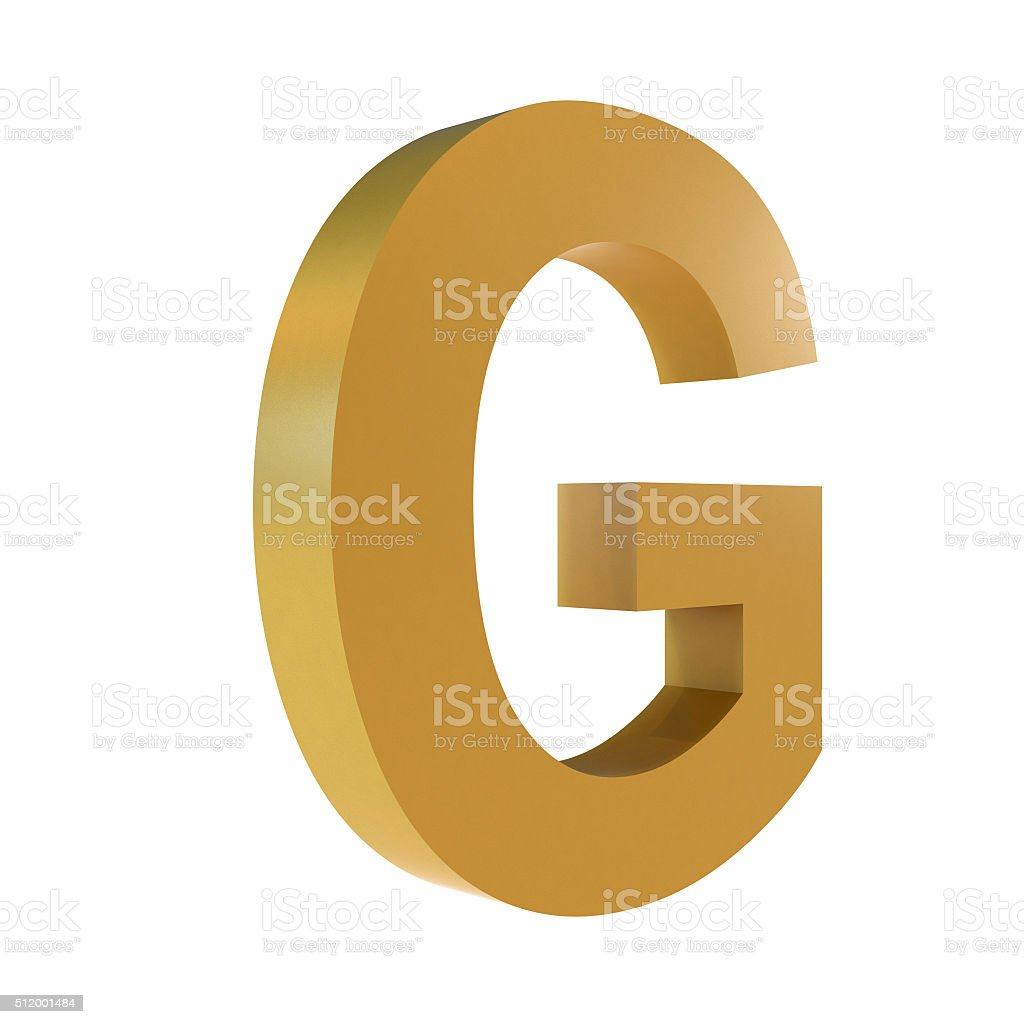 3D Gold Letter G stock photo