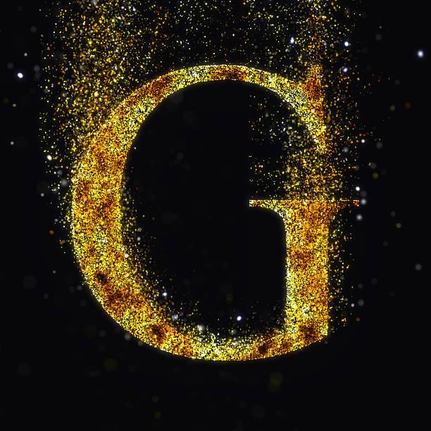 gold letter g stock photo
