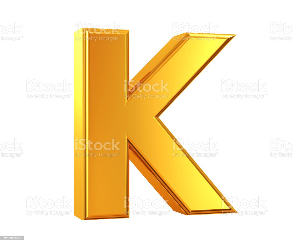 Gold Letter K stock photo