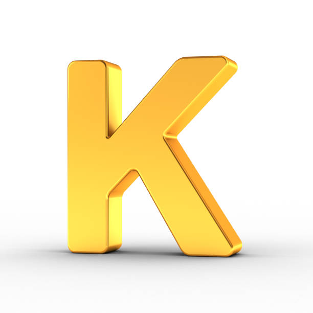 Gold Color 3d Letter K Stock Photos, Pictures & Royalty-Free ...