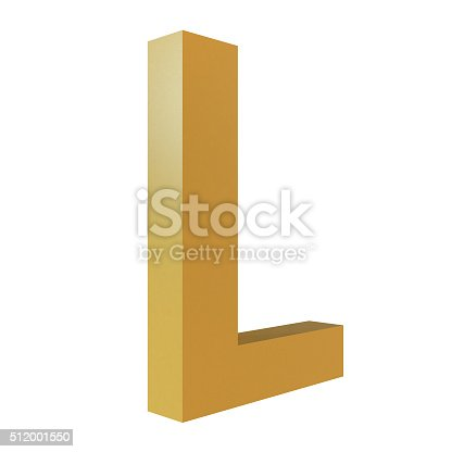 istock 3D Gold Letter L 512001550