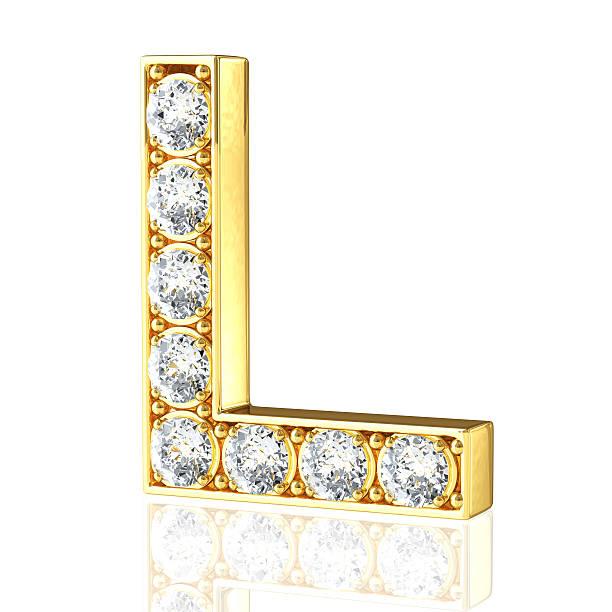 M Letter In Black Diamonds Royalty Free Le...
