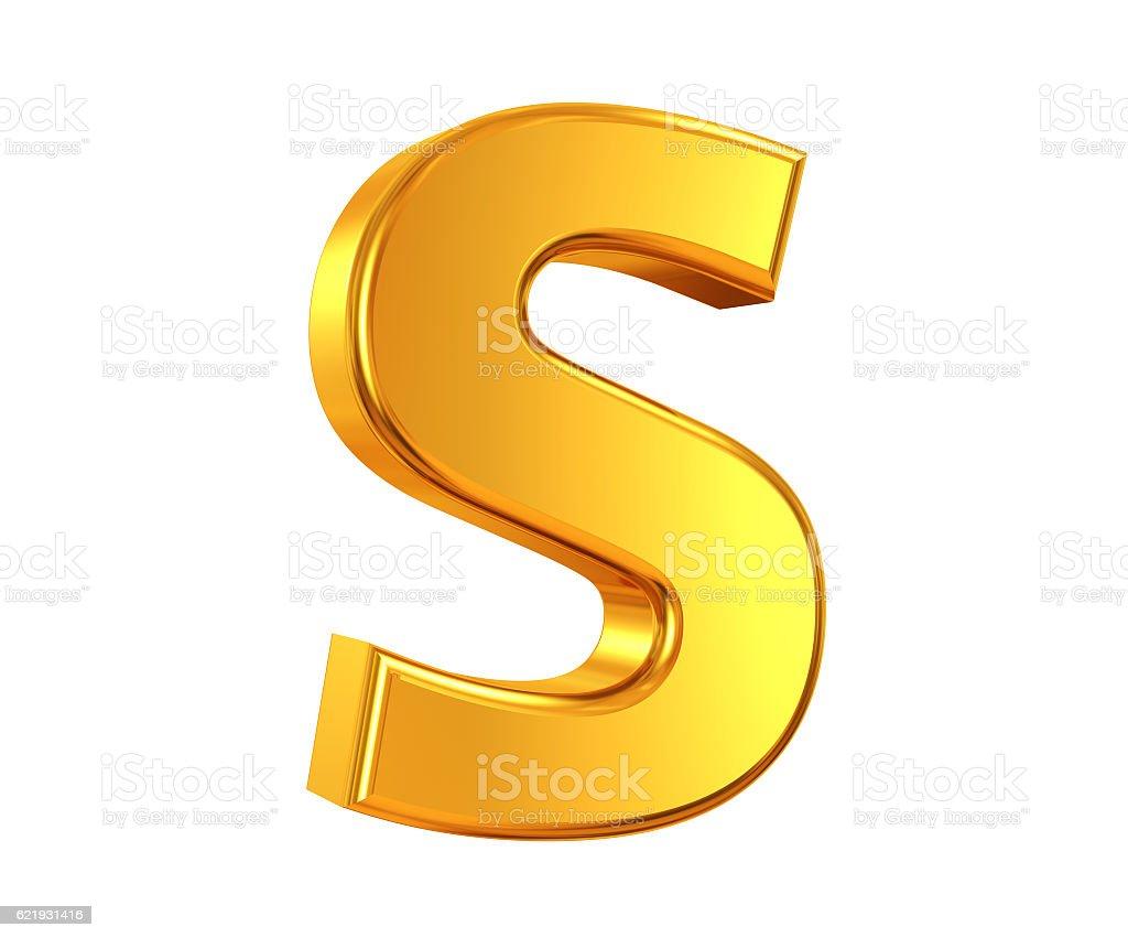 Gold Lettre S - Photo
