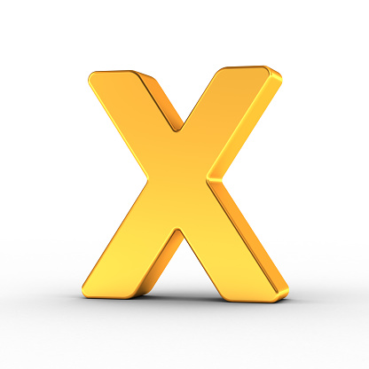 848178088 istock photo Gold Letter X with clipping path 950628264