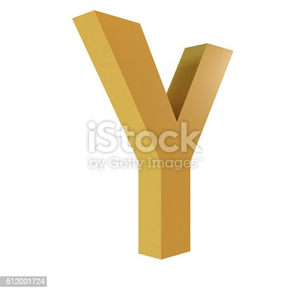 istock 3D Gold Letter Y 512001724