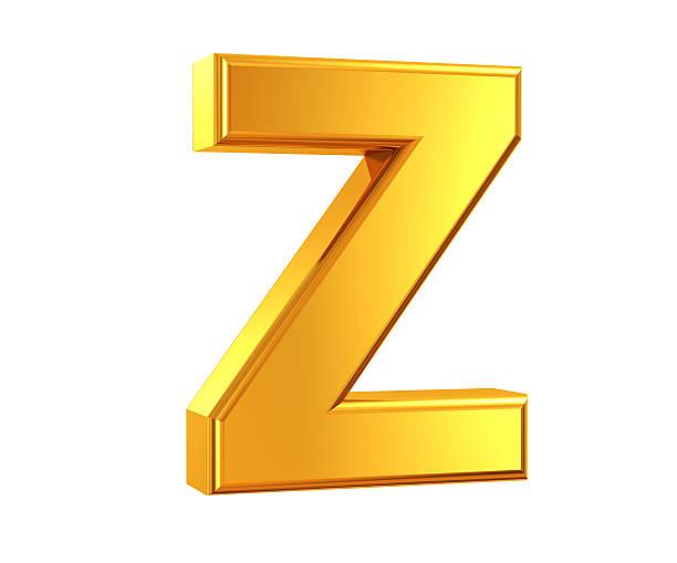 Gold Letter Z stock photo