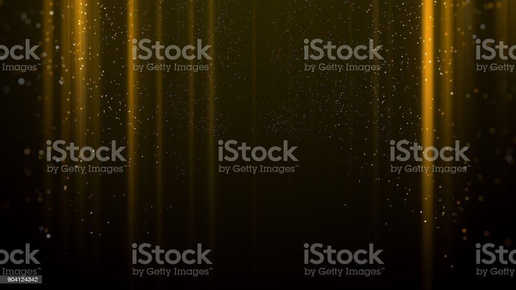Gold light awards background stock photo