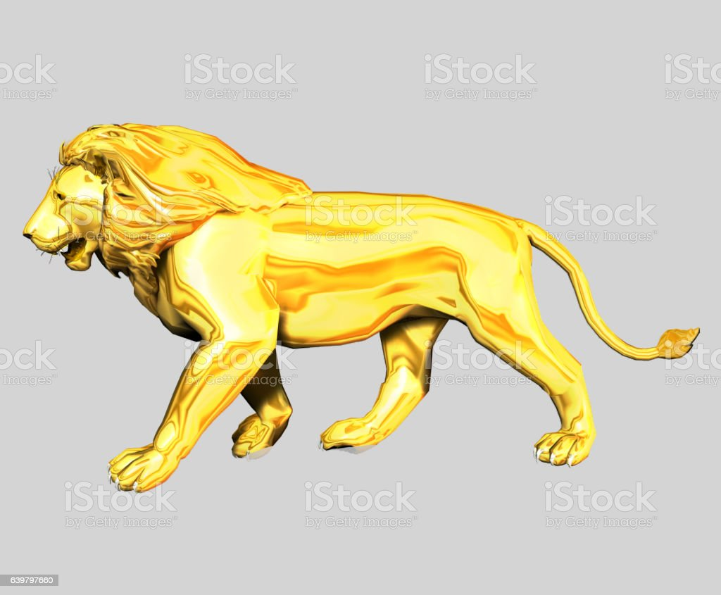 Gold Lion stock photo