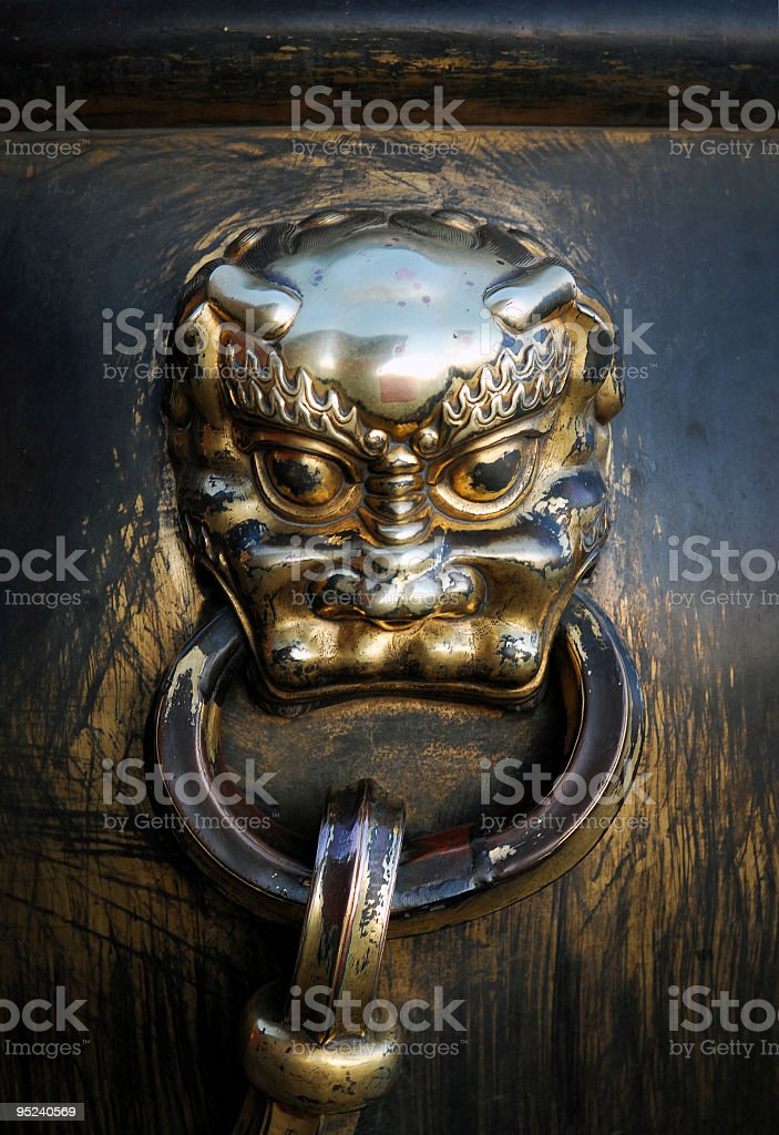 Gold Lion royalty-free stock photo