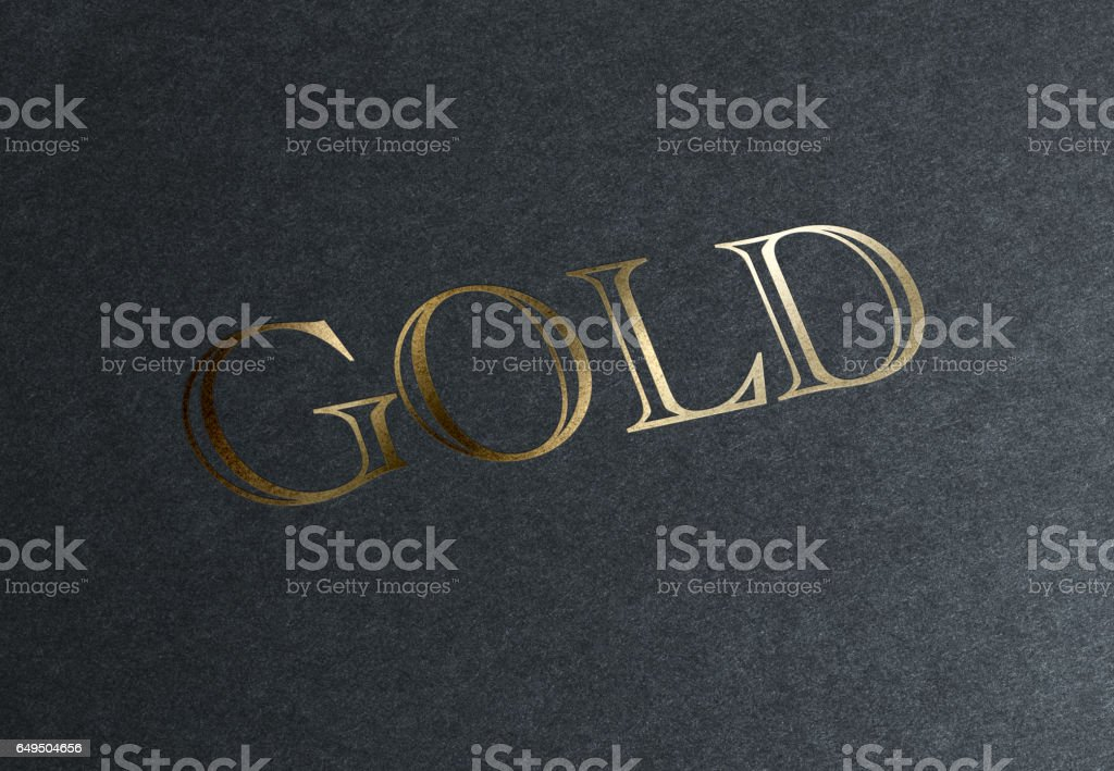 Gold Logo stock photo