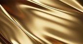 istock Gold luxury fabric background 3d render 1270666756