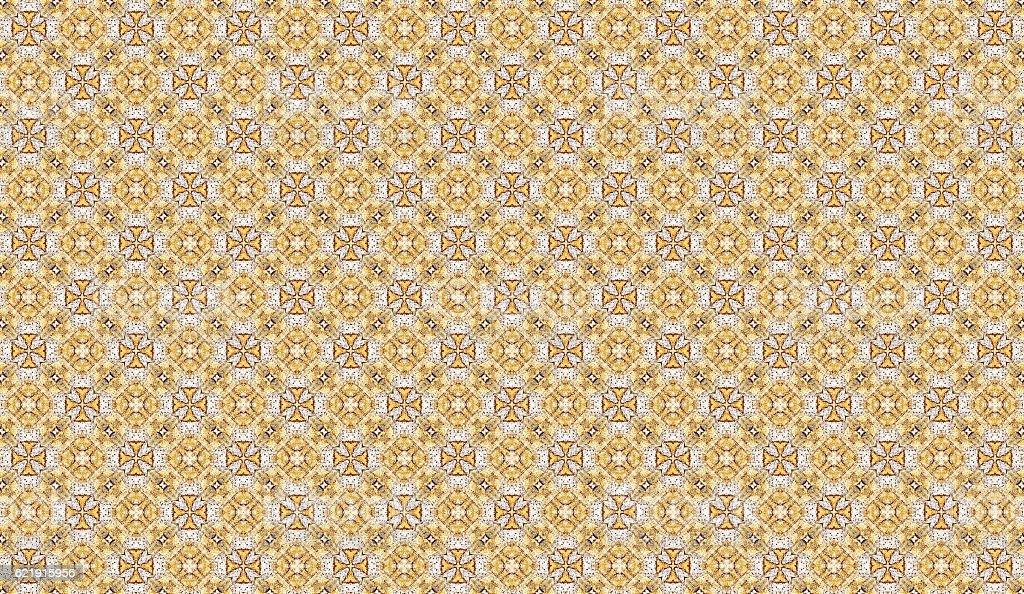 gold maltese cross seamless pattern stock photo
