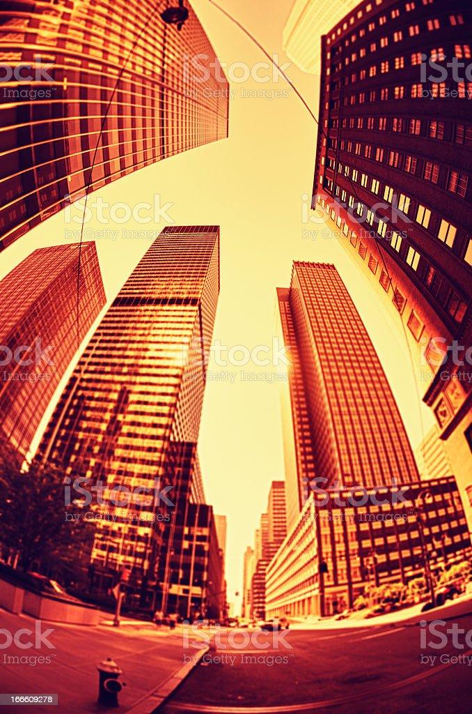 Gold Manhattan Financial District royalty-free stock photo