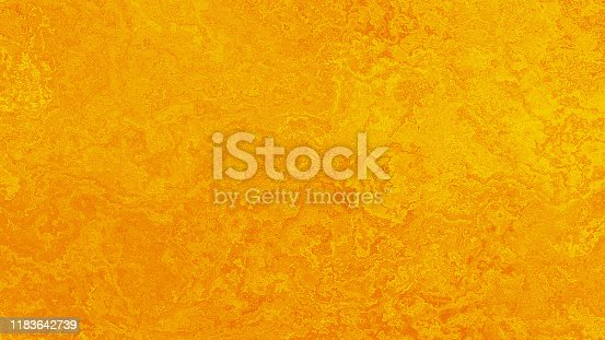 Gold Marble Grunge Background Yellow Orange Stucco Fresco Abstract Wall Sparse Old Shiny Luxury Vintage Pattern Bright Autumn Holiday Glowing Gradient Ombre Texture Copy Space Design template for presentation, flyer, card, poster, brochure, banner