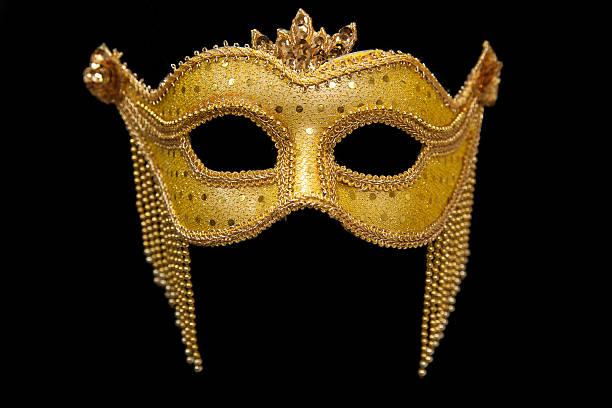 Gold Mardi Gras Mask stock photo