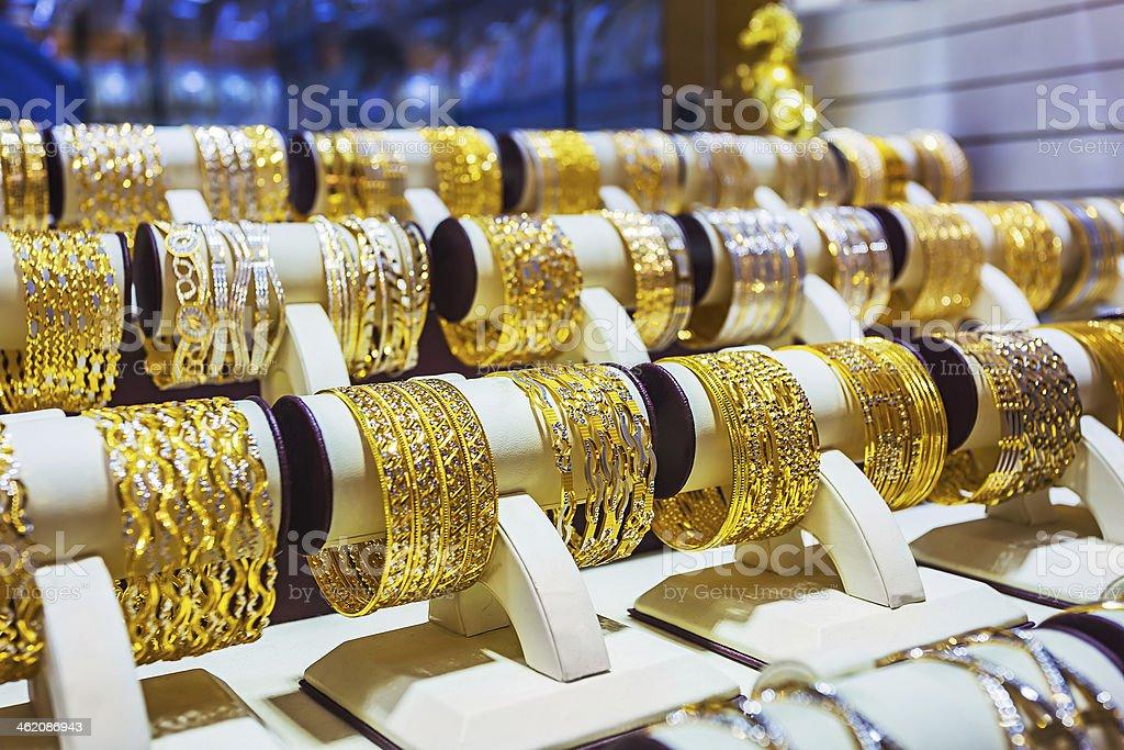 Gold market in Duba stock photo