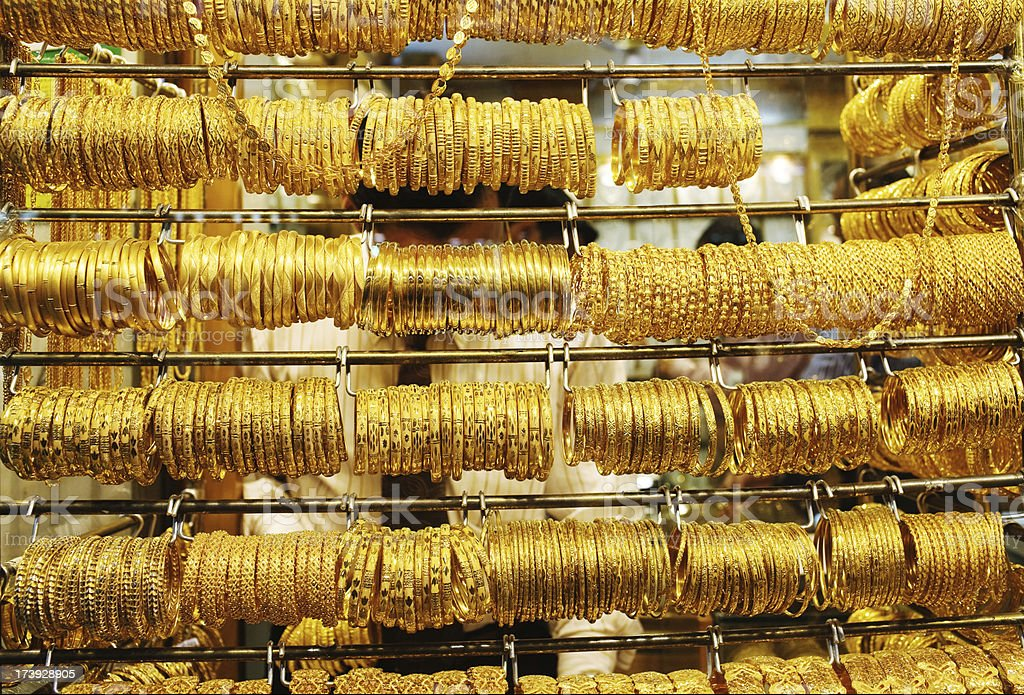 Gold Market royalty-free stock photo