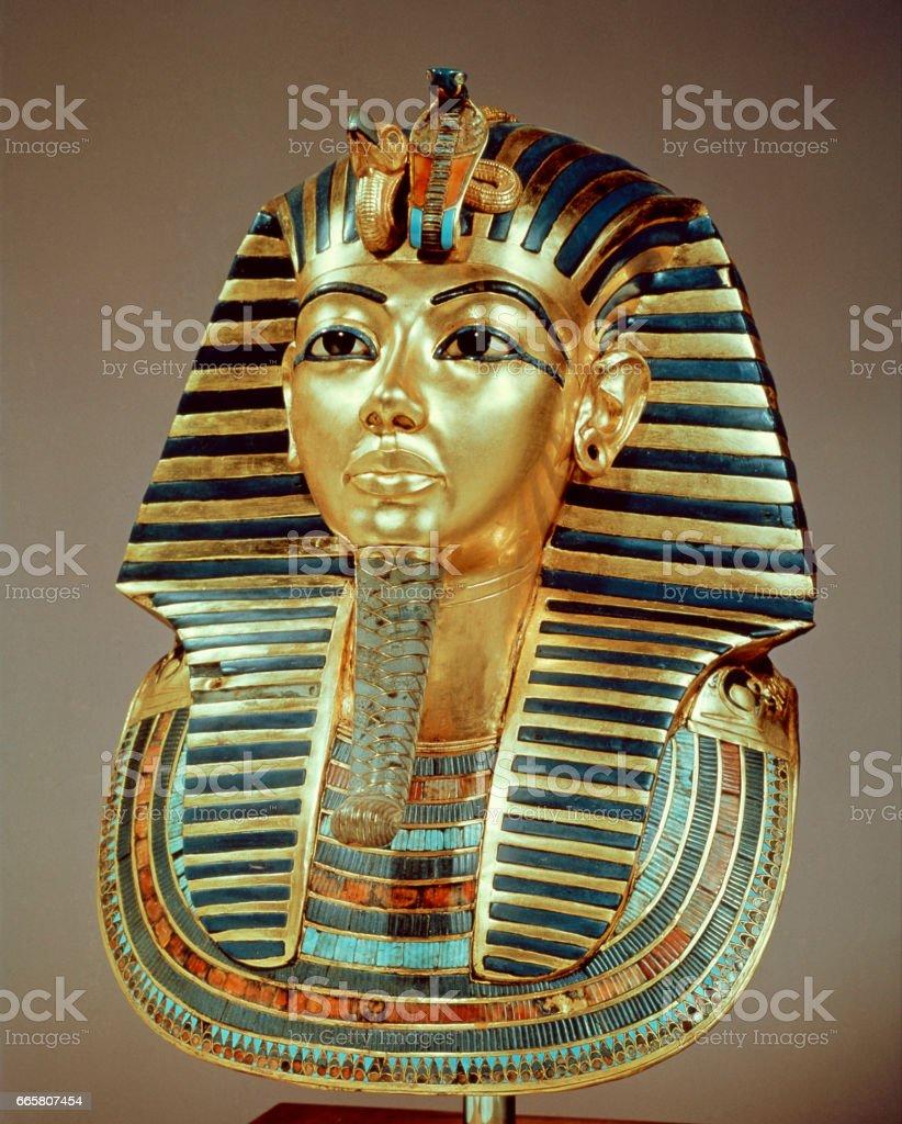 Gold mask of Tutankhamun stock photo