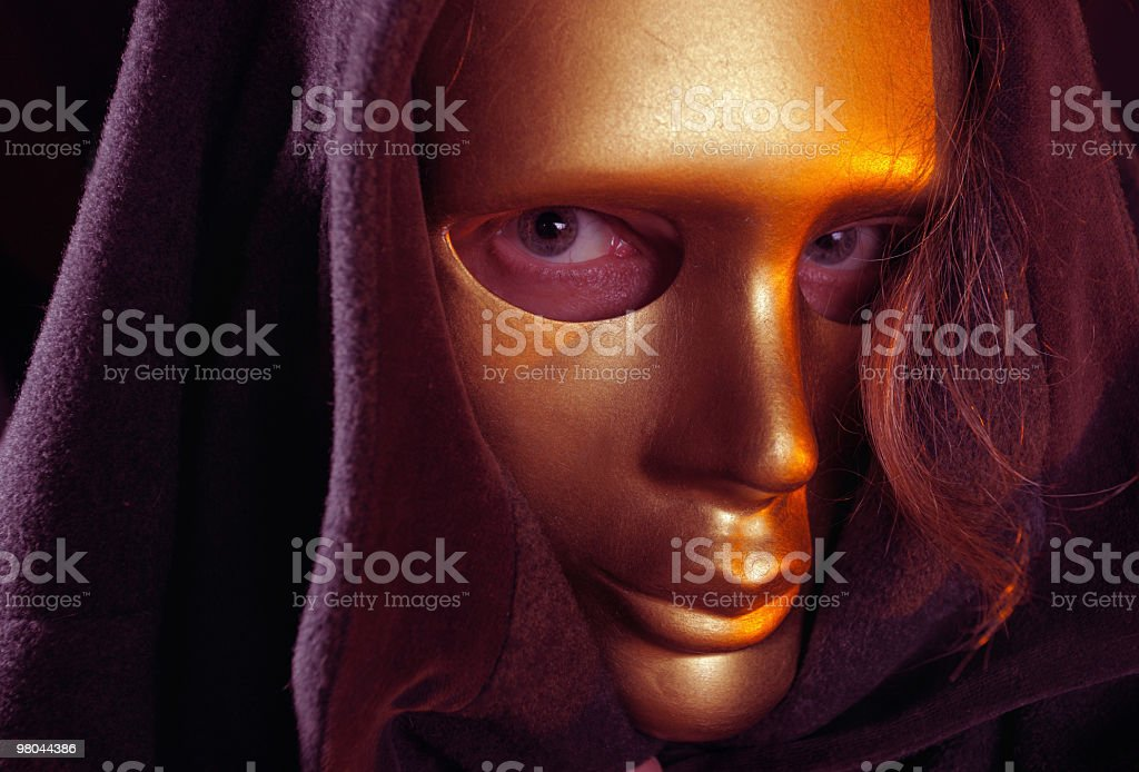 gold mask royalty-free stock photo