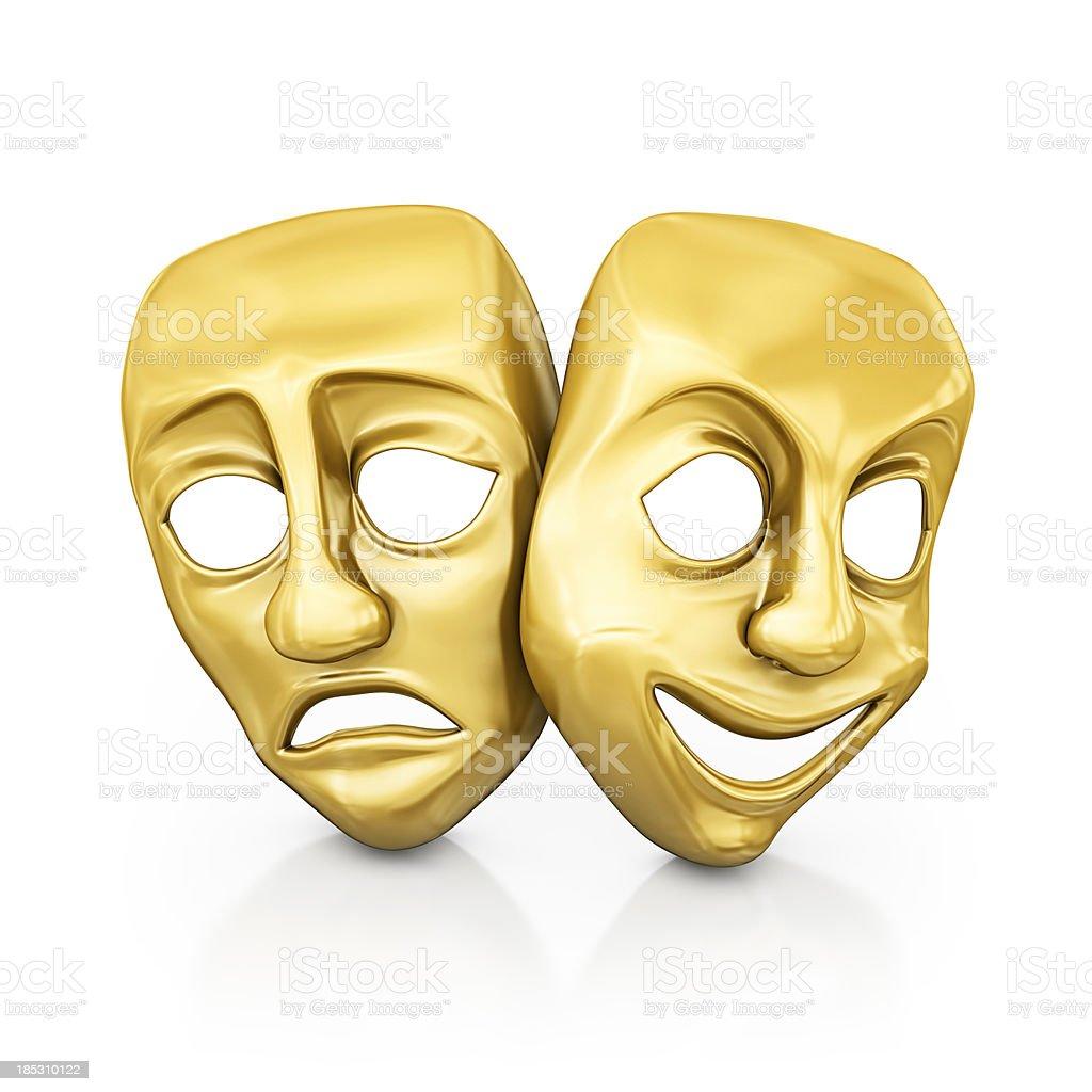 gold masks stock photo