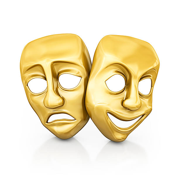 gold masks stock photo