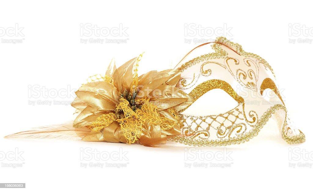 gold masquerade mask stock photo