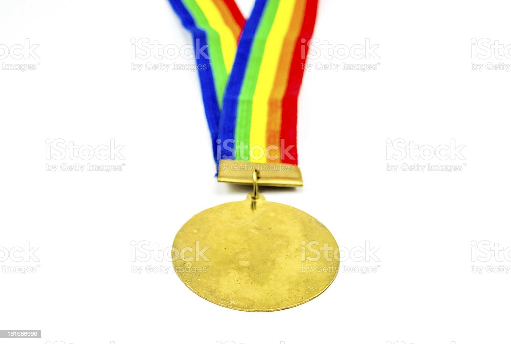 Gold medal close up royalty-free stock photo
